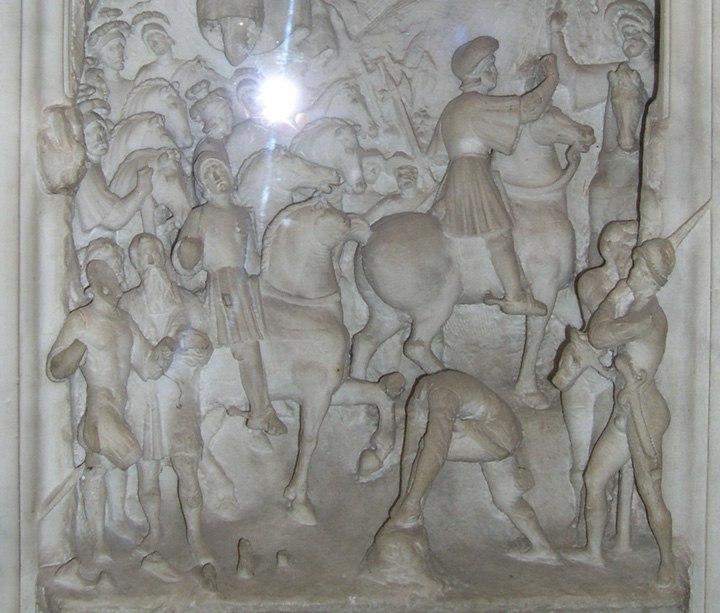 Gaston de Foix si lancia nella mischia malgrado l'esortazione di Bayard