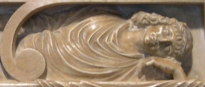 Tomba di Lancino Curzio (particolare)