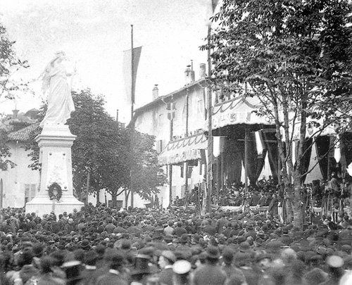 Inaugurazione del monumento ai caduti di Mantana