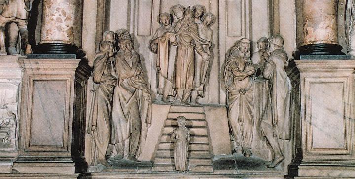Altare della Presentazione nel Duomo di Milano (particolare)