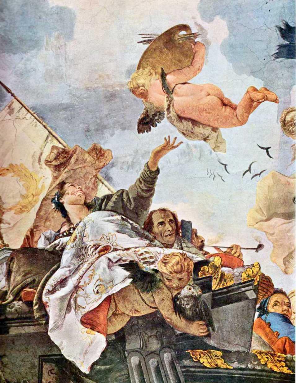 Storia di milano la sala del tiepolo in palazzo clerici for Planimetrie del palazzo con sala da ballo