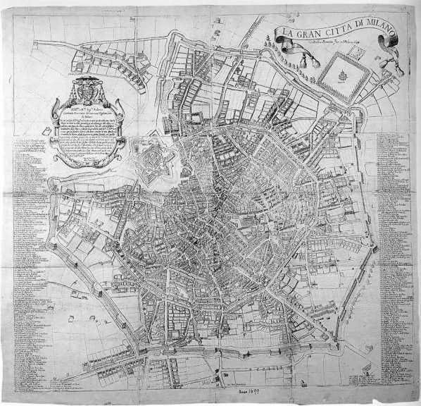 Cartina Milano 800.Storia Di Milano Le Mappe Di Milano