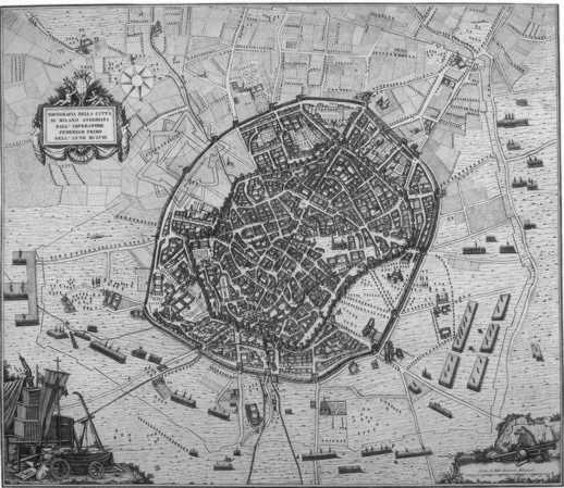 mappe antiche milano