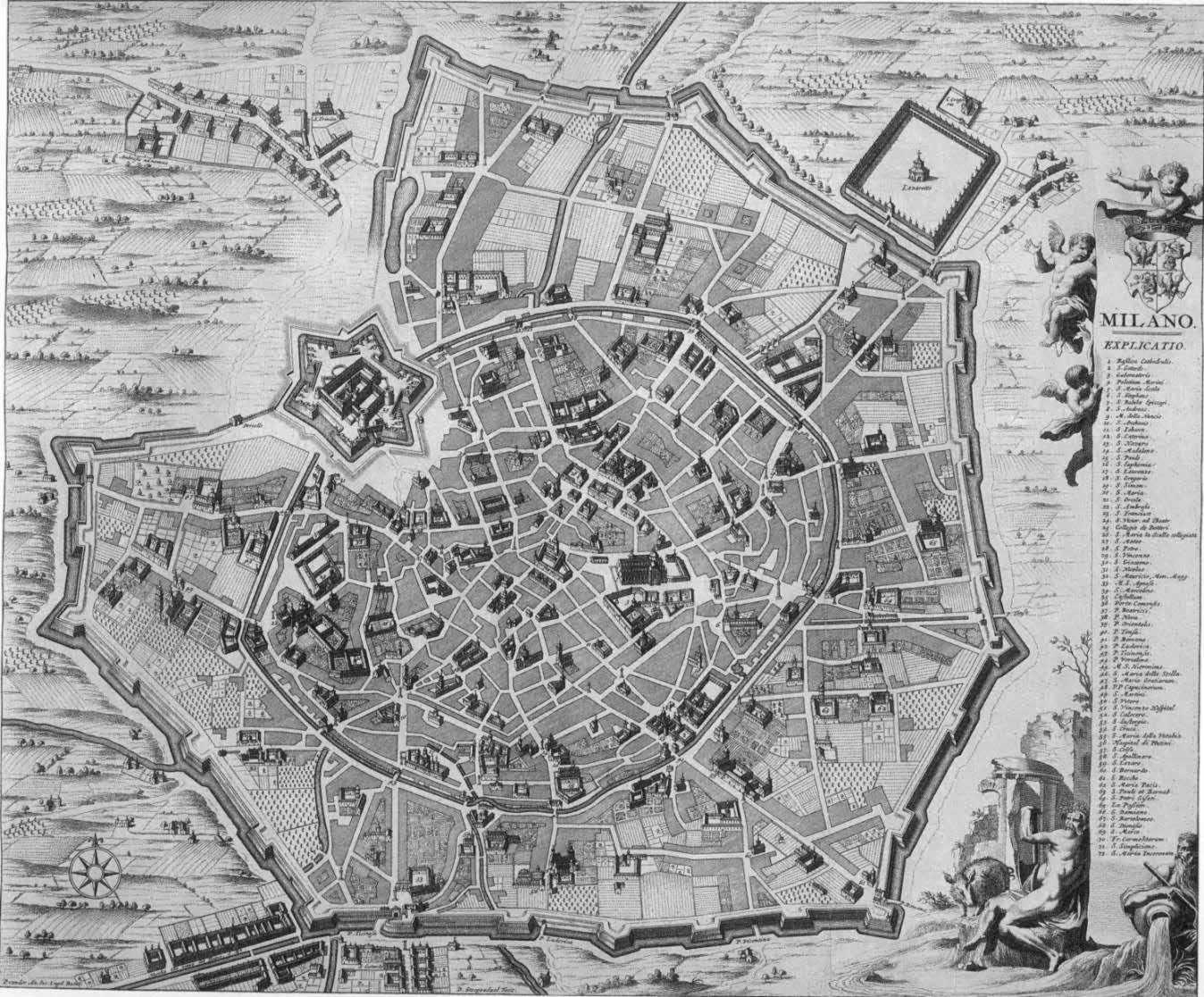 Storia di milano le mappe di milano for Interno delle piantagioni del sud