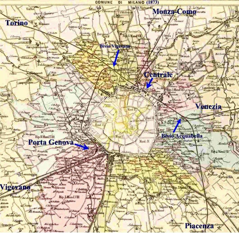 Cartina Milano 800.Storia Di Milano Binari E Stazioni A Milano