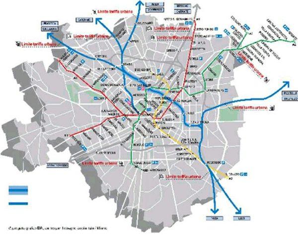 Storia di milano binari e stazioni a milano - Milano porta garibaldi passante mappa ...