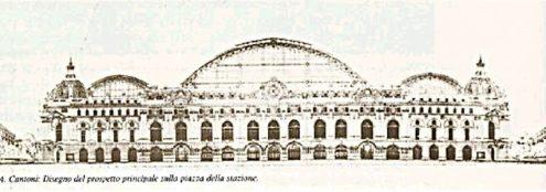 Центральный вокзал Милана. Проект Arrigo Cantoni, один из двух, сообщил в первом конкурсе 1906 года