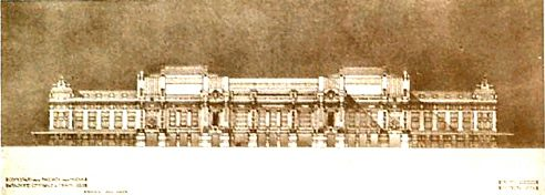 Центральный вокзал Милана. Проект Ulisse Stacchini, победитель конкурса 1911 года