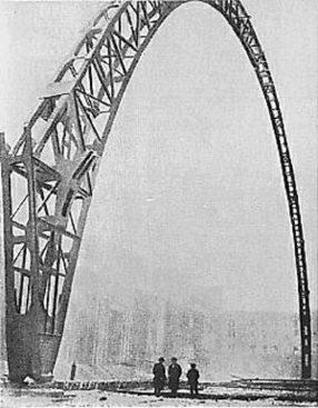 Центральный вокзал Милана. Монтаж первой сотни стальных навесов (1929)